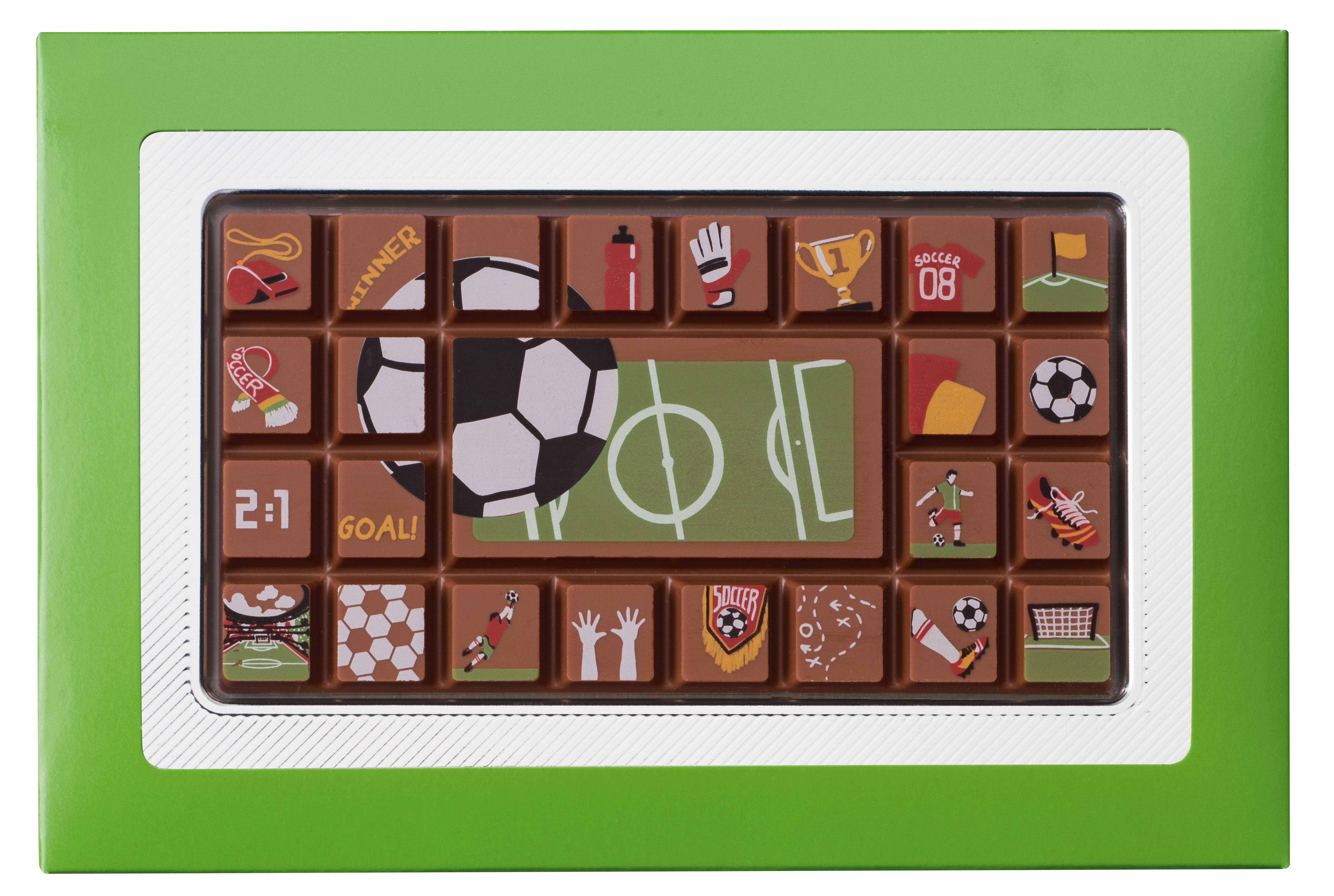 EURO 2016 - VOETBAL CHOCOLADE TABLET