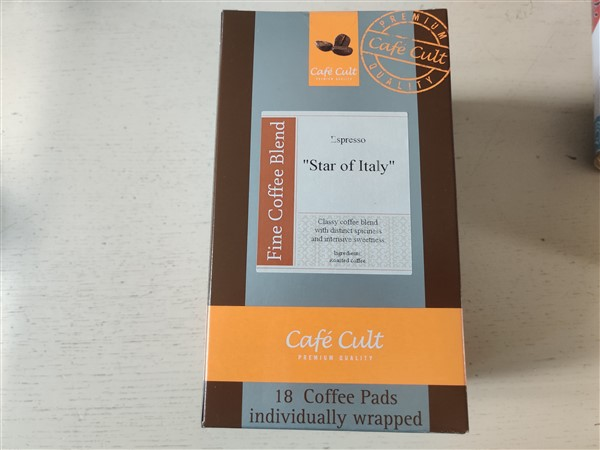 star of italy espresso koffie pads