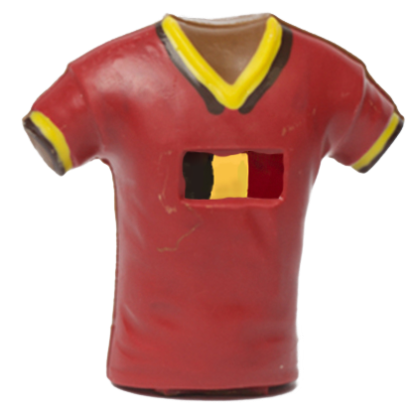 Rode Duivels 2016 - voetbalshirt  - in chocolade
